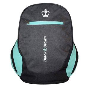 Black Crown Backpack Bit Grijs Turquoise