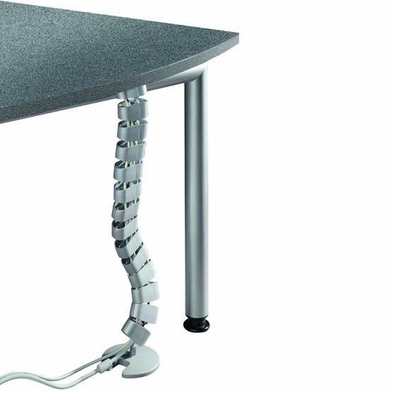 Ergopro Ovale Kabelslang + voet zilvergrijs