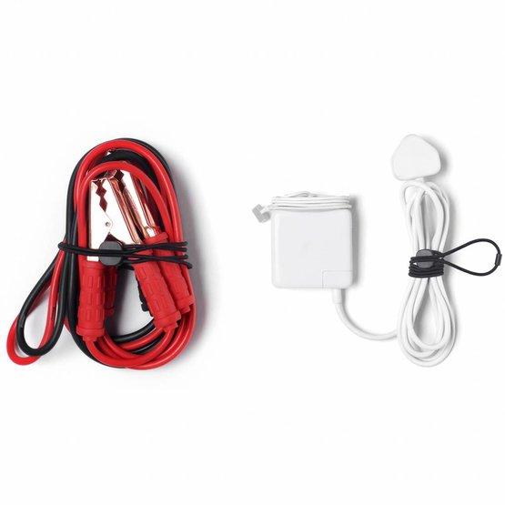 Bluelounge Pixi Large kabelbinders rood-zwart (4 per pakje)