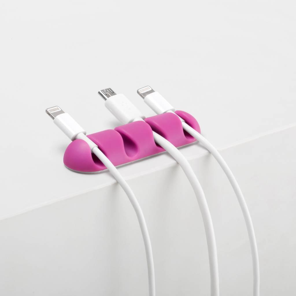 Bluelounge CableDrop Multi kabelklem roze-groen (2 per pakje)