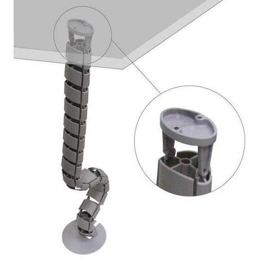 Ergopro Spine Kabelslang + voet zilvergrijs