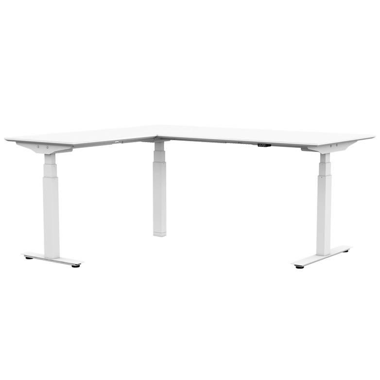ROL Ergo Professional zit/sta bureau 65-130 cm met hoekblad 200x160/80 cm incl. gratis montage