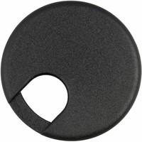 Kabeldoorvoer rond 2-delig kunststof zwart