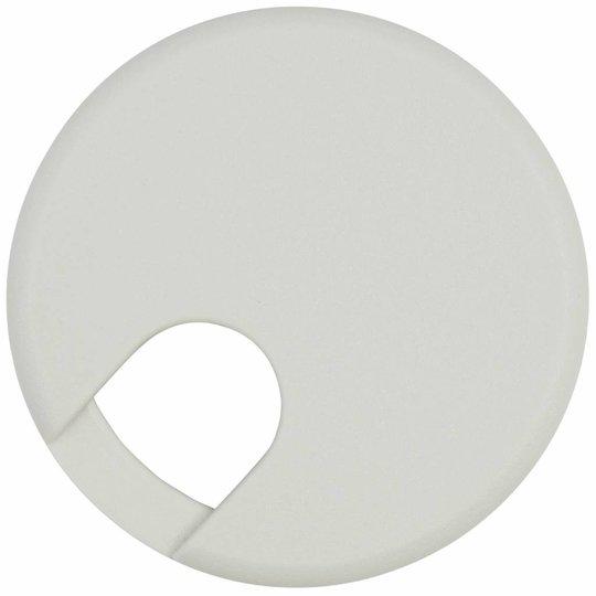 Kabeldoorvoer rond 2-delig kunststof grijs