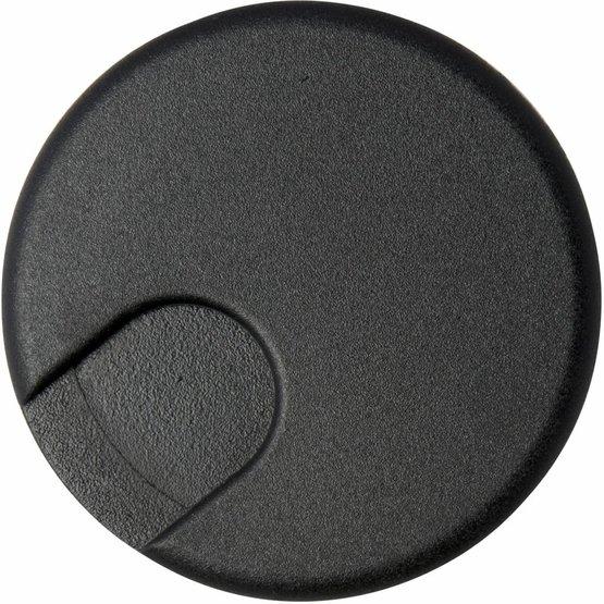 Kabeldoorvoer rond 2-delig afsluitbaar kunststof zwart
