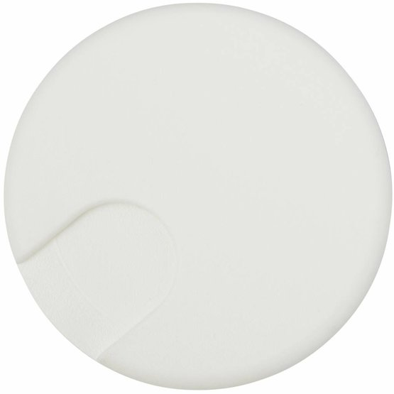 Kabeldoorvoer rond 2-delig afsluitbaar kunststof wit