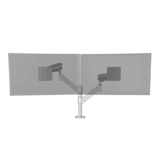 """R-Go Caparo 3 Twin Pro monitor arm met gasveer voor 2 monitoren 10-27"""""""