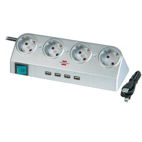 Brennenstuhl Basic Desk 4 USB stekkerdoos