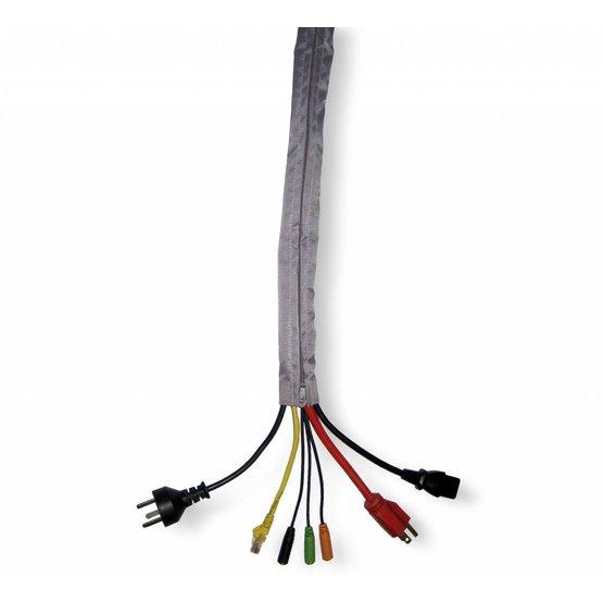ZipZ Kabelgeleider zilvergrijs