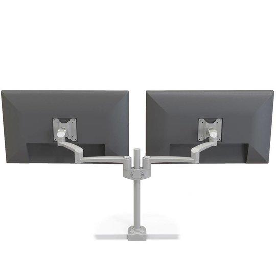Oslo dubbele monitor arm zilvergrijs