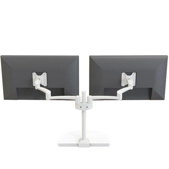 Oslo dubbele monitor arm wit