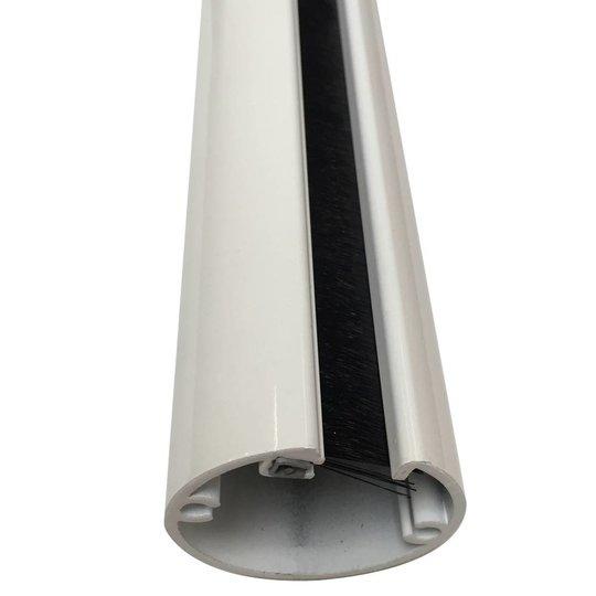 Ergopro Aluminium kabelzuil wit gelakt Ø50 x 3000 mm