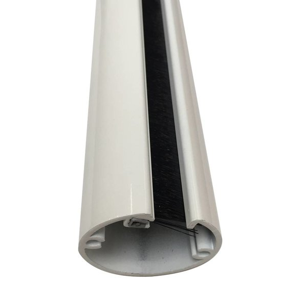 Ergopro Aluminium kabelzuil wit gelakt (RAL9016) Ø50 x 3000 mm
