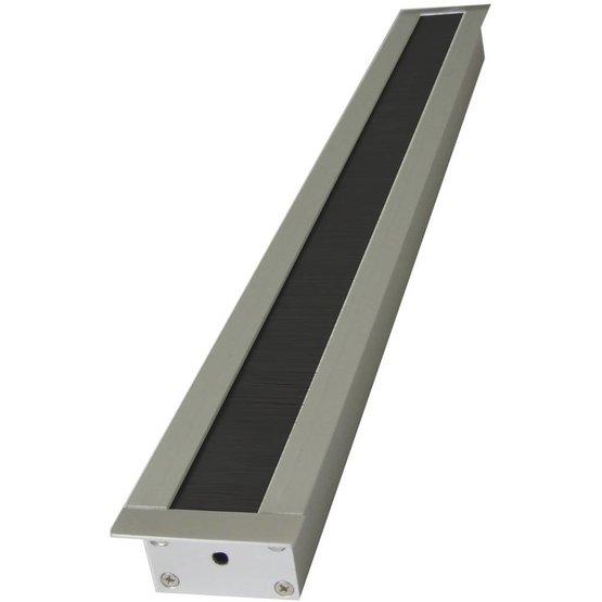 Aluminium Kabeldoorvoer met rechte hoeken smal - 45 x 427 x 20 mm