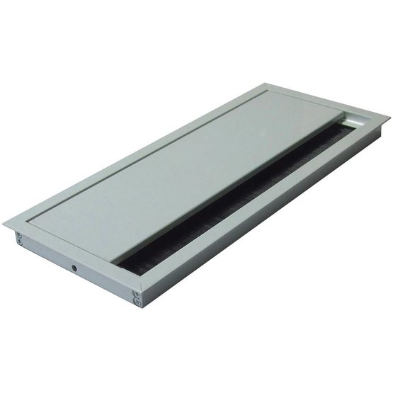 Rectangle S Aluminium Kabeldoorvoer - 100 x 240 x 13 mm