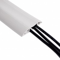 Dataflex Addit rubberen vloergoot 150 cm grijs
