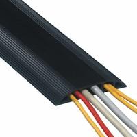 Dataflex Addit rubberen vloergoot 150 cm zwart