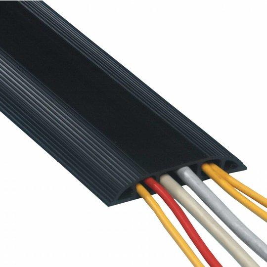 Dataflex Addit rubberen vloergoot 300 cm zwart