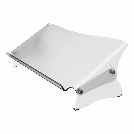 Dataflex Addit ErgoDoc® verstelbare mat acryl documenthouder met hoge voorzijde  - 49.411