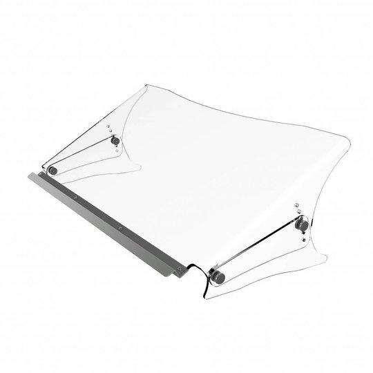 Dataflex Addit ErgoDoc® verstelbare acryl documenthouder met vlakke rand