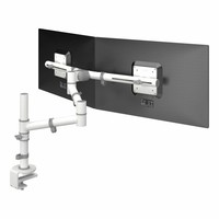 Dataflex Viewgo dubbele monitor arm wit