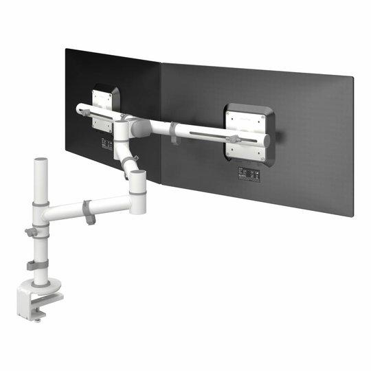 Dataflex Viewgo dubbele monitor arm wit