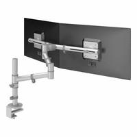Dataflex Viewgo dubbele monitor arm zilvergrijs