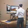 BakkerElkhuizen Adjustable Desk Riser zit-sta werkstation - Zwart