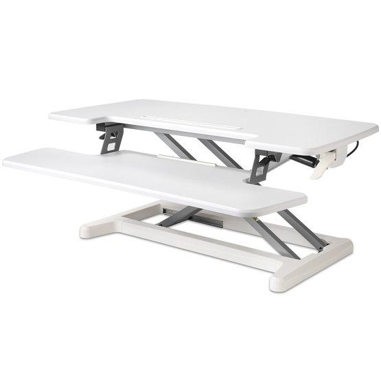 BakkerElkhuizen Adjustable Desk Riser zit-sta werkstation - Wit