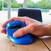 Delux Mini Pearl-like Blue draadloze rechtshandige ergonomische muis