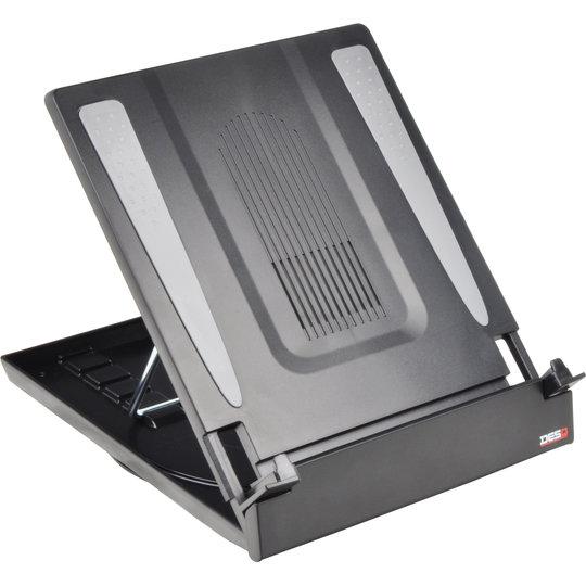 DESQ 1503 Laptopstandaard met documenthouder