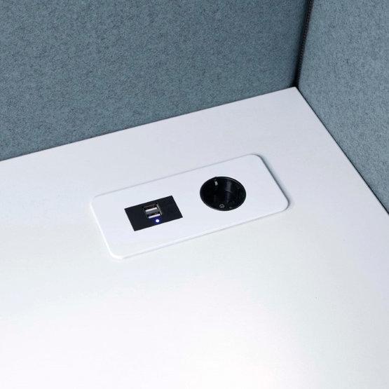 Götessons Table Top Slim USB inbouw stekkerdoos bureau