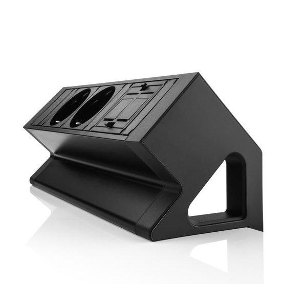 Desk up 2.0 - 2x 230V, 1x keystone