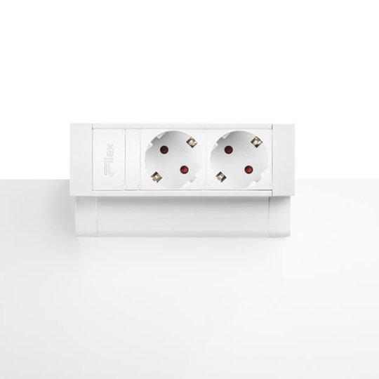 Desk Up 2.0 - 2x 230V - Wit