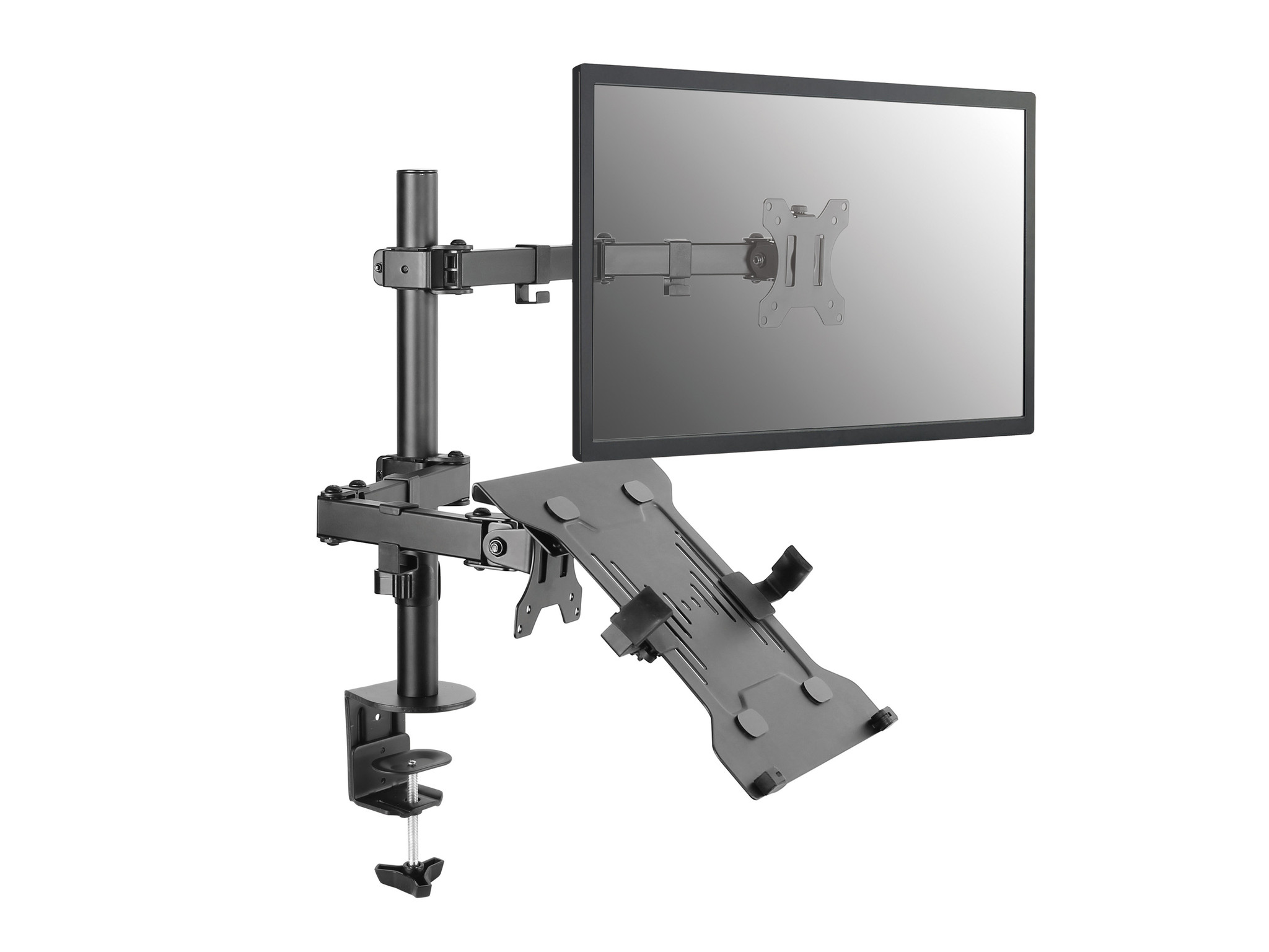 """Ergopro Basic 1 Scherm monitorarm met Laptophouder 10""""-17"""""""