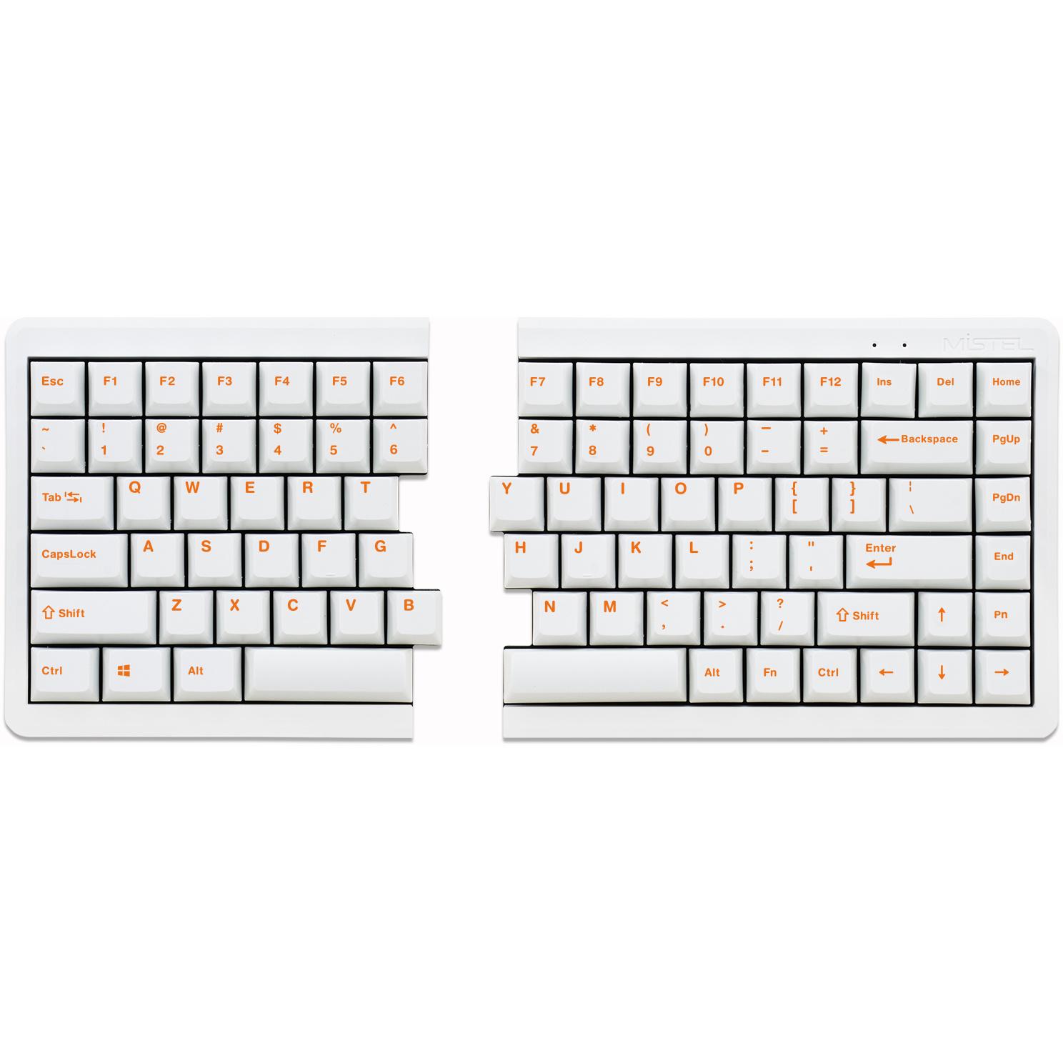 toetsenbord afmetingen Mistel Barocco MD770 RGB gesplitst mechanisch toetsenbord