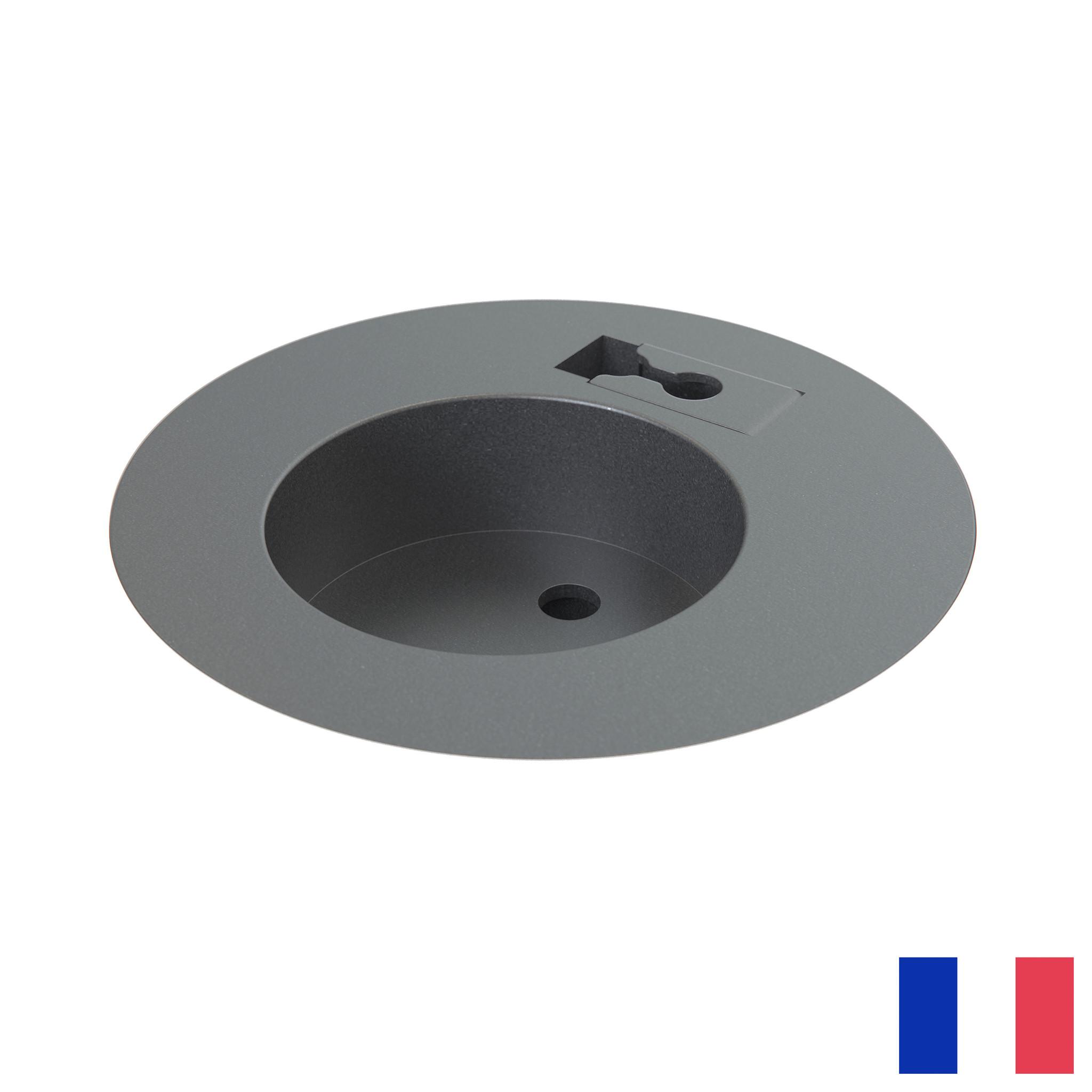 Powerdot Midi penaarde BE/FR (UTE) met kabeldoorvoer zwart