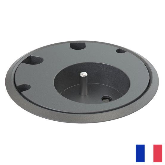Powerdot Power penaarde BE/FR (UTE) met 4x kabeldoorvoer zwart