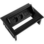 Ergopro Desk In - 2x power & keystone zwart
