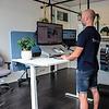 ROL Ergo Professional zit/sta bureau 65-130 cm met hoekblad 240x200/80 cm incl. gratis montage