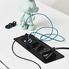 Axessline QuickBox inbouw stekkerdoos met 3x stroom en 2x USB charger zwart