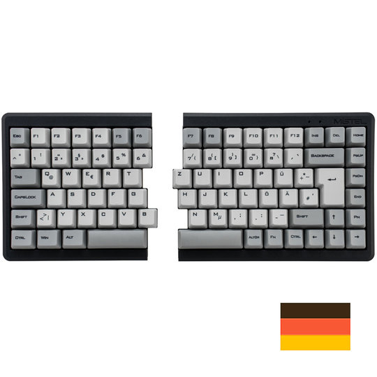 Mistel MD770 RGB zwart mechanisch toetsenbord QWERTZ DE
