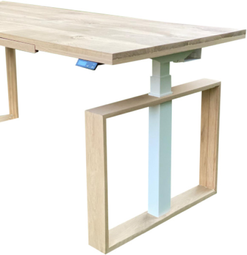 ROL Ergo Wood It Be Square Zit Sta Bureau 65-130 cm incl. gratis montage