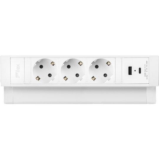 Ergopro Desk Up 2.0 - 3x 230V + USB-A & USB-C charger wit