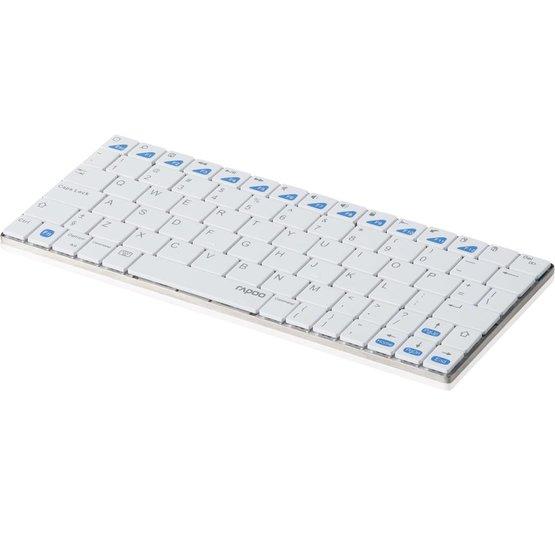 Rapoo E6300 wit bluetooth tablet mini toetsenbord (Niet meer leverbaar)