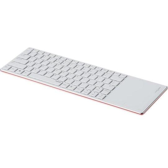Rapoo E6700 rood bluetooth toetsenbord met touchpad