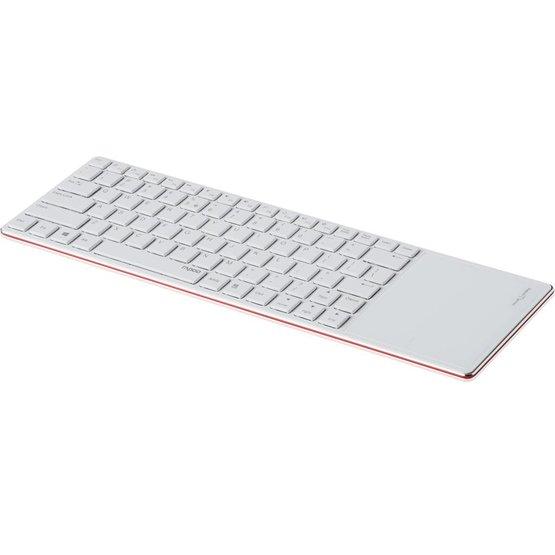 Rapoo E6700 rood bluetooth toetsenbord met touchpad (Niet meer leverbaar)