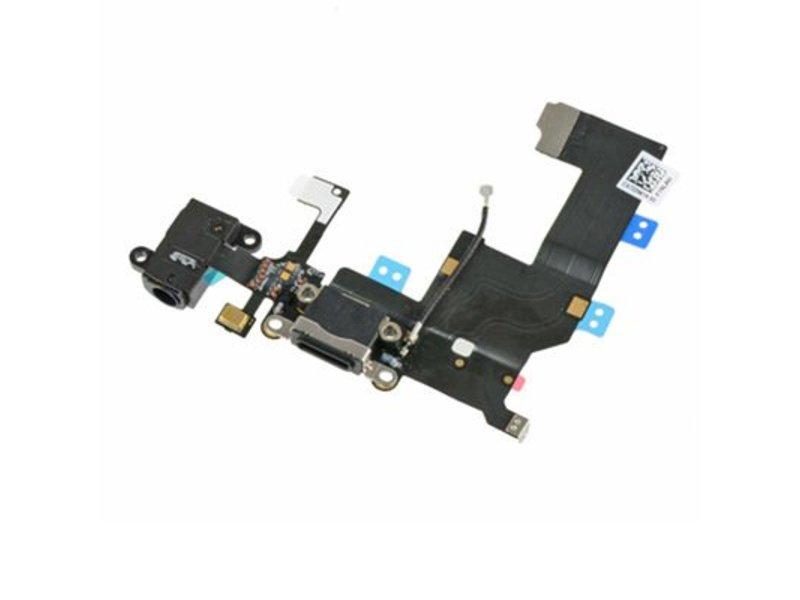Dock connector voor Apple iPhone 5 zwart oplaadpoort flex reparatie onderdeel