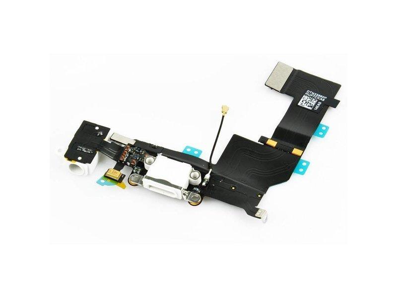 Dock connector voor Apple iPhone 5 wit oplaadpoort flex reparatie onderdeel