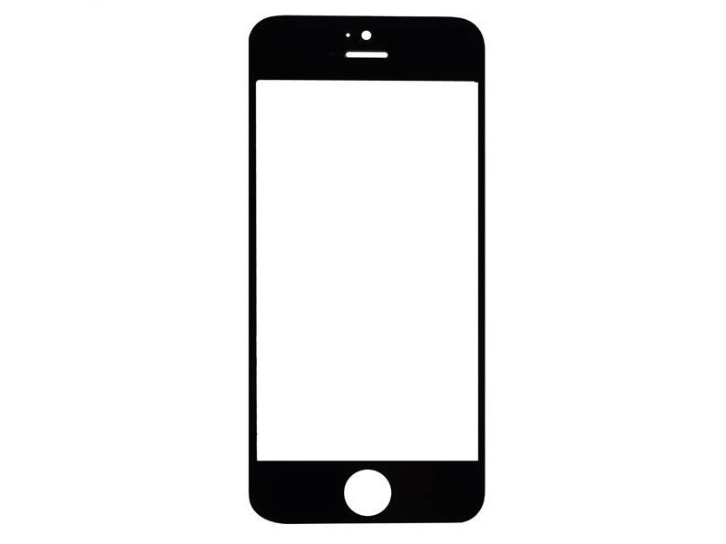 Front glas voor Apple iPhone 5 Zwart/Black (scherm glas)